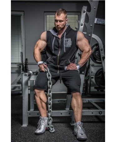 HARDCORE REGTOP BLACK. regroup hard per bodybuilders. maglia smaccata