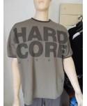 HARD CORE T-SHIRT KAKI NEBBIA