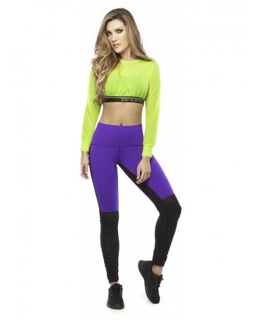 legging tulle e supplex viola e nero, fitness shopping online, moda palestra, fitness wear,