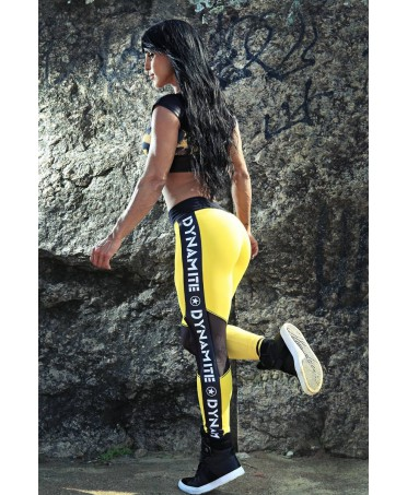 LEGGING BLACK & YELLOW