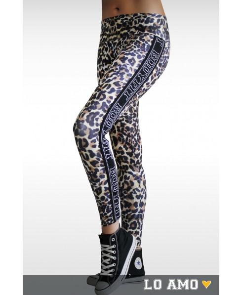 Pantacollant leopardato Bodyfit