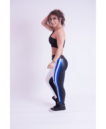 LEGGING PEOPLE FIT WHITE & BLUE