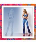 Long jeans flare Cajubrasil: legging a zampa di elefante e stampa jeans ultrarealistica. L'effetto jeans che non stringe.