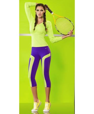 blusa babalu' sportiva verde neon manica lunga. fantaleggins ti offre babalu', labellamafia, cajubrasil, canoan, bodyfit
