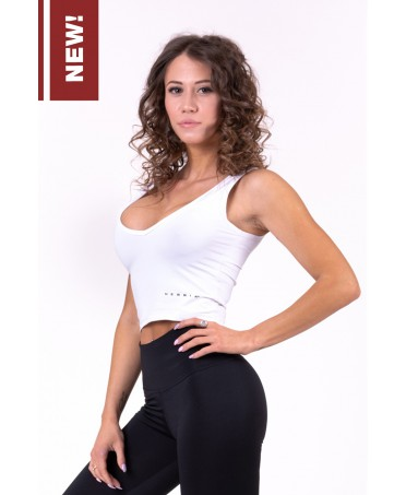 NEBBIA CROP TOP-STYLISH WHITE
