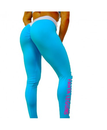 LEGGINGS PUSH UP TURCHESE...