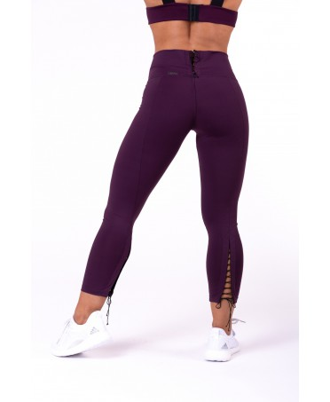 LEGGING 7/8 LACE UP PURPLE FOG