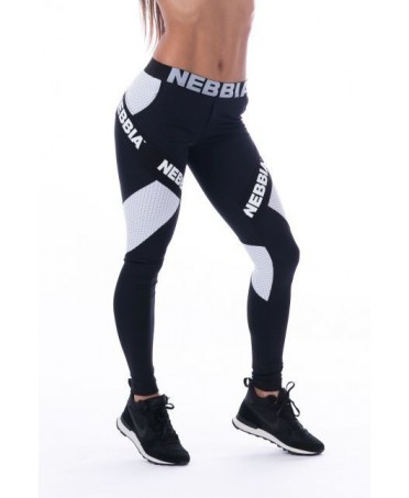 FITNESS TIGHTS COMBI BLACK