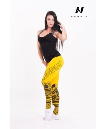 esplosivo leggins giallo, colori brillanti e garantiti nel tempo, tessuto tecnologia antifungina, antifungo, traspirante,