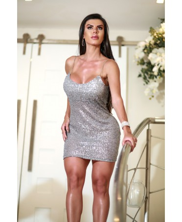 MINI DRESS IN SILVER...