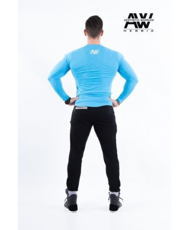 The elegance of a mesh men's tight long sleeves to dress up the free time. fabric that enhances muscles and curves.