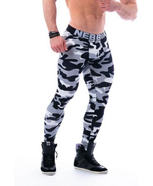 un legging maschile aderente, per allenare le gambe o esaltarne le forme. Mimetica da uomo con rinforzo al cavallo e tasca