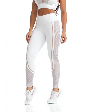 LEGGINGS WHITE OPAQUE WITH...