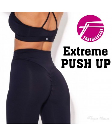 LEGGINGS NERI SUPER PUSH UP...