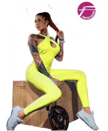 ONE-PIECE SUIT YELLOW FLUO'...