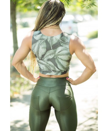 LEGGINGS GYM  PUSH UP VERDE...