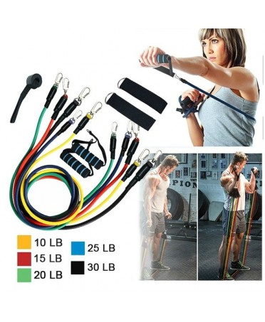 SET OF ELASTIC SIZED UNISEX FOR TRAINING WITH ANKLETS HANDLES AND DOOR STOP FANTALEGGINS
