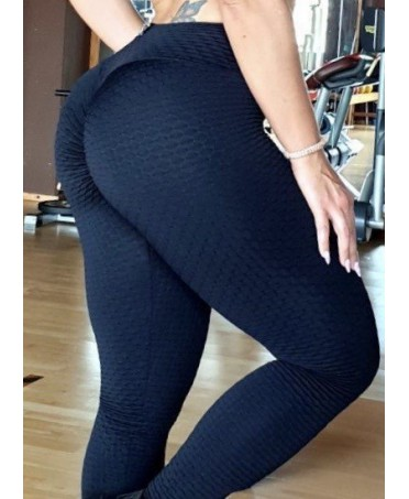 LEGGINGS TESTURIZZATI NERI PUSH UP NEW BOMBA FIT