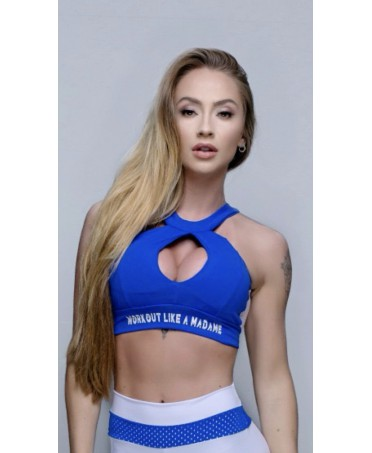 TOP SPORTS PADDED BLUE WITH...