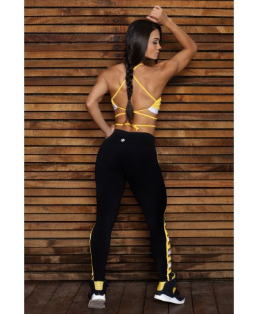 top powerful canoan yellow.top sport with naked back, not transparent, convenient and practical.