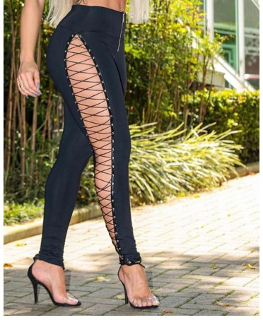 ELEGANT BLACK LEGGINGS WITH...