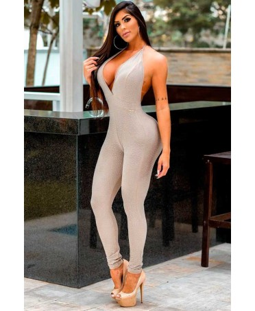 ELEGANT FIT BEIGE JUMPSUIT...