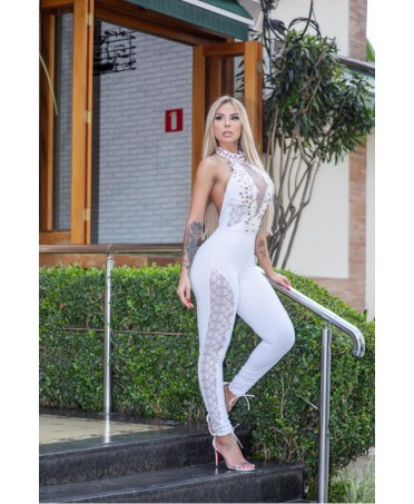 ELEGANT WHITE JUMPSUIT WITH...