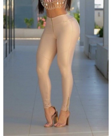 ELEGANT BEIGE FIT TROUSERS...
