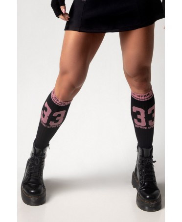 BLACK AND PINK HIPKINI SOCKS
