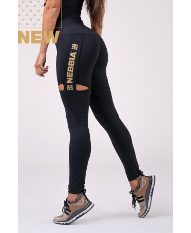 LEGGING PUSH UP NERO E ORO...