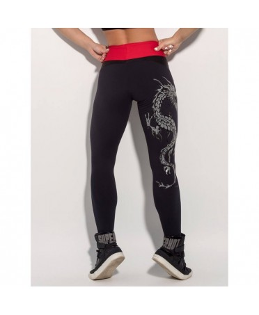 leggings black supplex sport and leisure.