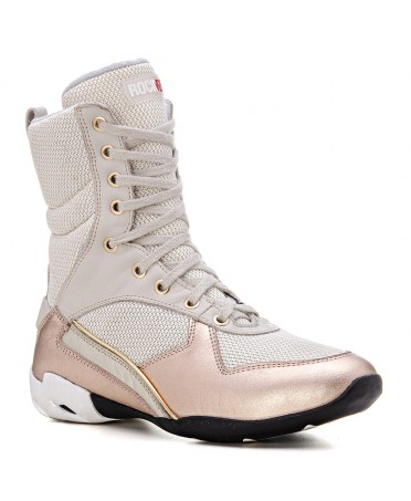PINK AND IVORY GYM BOOTS IN...