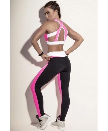 legging fuxia sportivo in supplex modellante