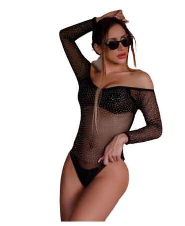BODY IN TULLE CON STRASS A...
