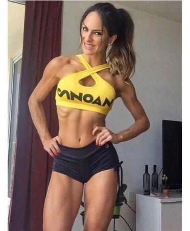 shorts tira lateral preto canoan. short nero arricciato canoan. www.fantaleggins.com