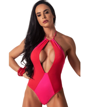 COSTUME/ BODYSUIT RED AND...