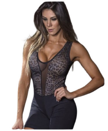 SHORT SPOTTED OVERALL FITNESS SUIT SUPERHOT