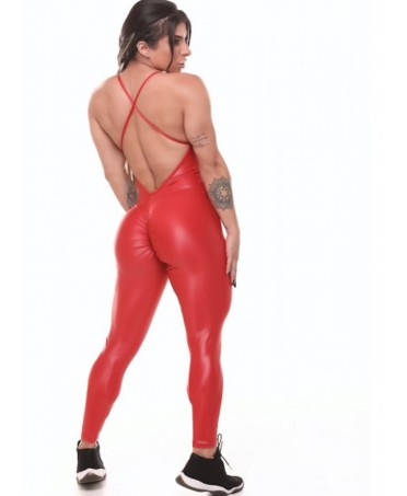 SHINY RED FIT TRACKSUIT...