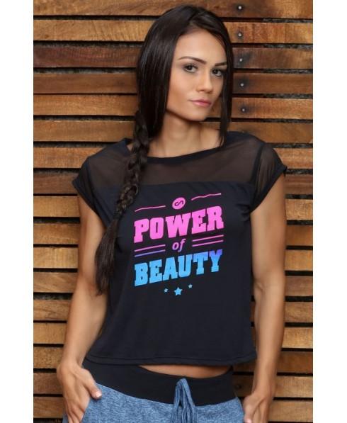 maglia manica corta nera, leggera canoan su fantaleggins.com