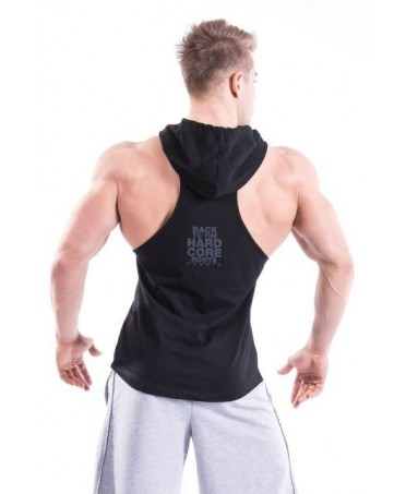 sports clothing men, t-shirt rowing machine, sleeveless top, the best clothing fitness on-line, black, shop on line