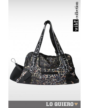 Sports bag Bodyfit leopard print, fashionable accessories for sport and leisure,