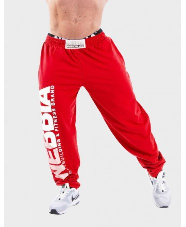 training pant red hard core mist for body builder. wide leg and elastic waistband.