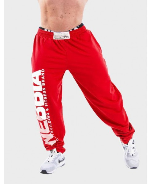 a172f249 RED TRAINING TROUSERS FOR MAN, HARD CORE SWEATPANTS NEBBIA