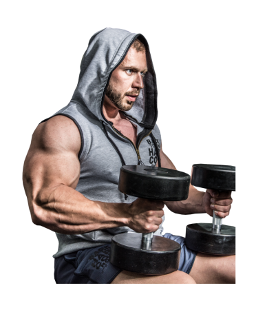 sleeveless top with hood for men. sports clothing fog for the gym and body building. pro athletes.fog wear