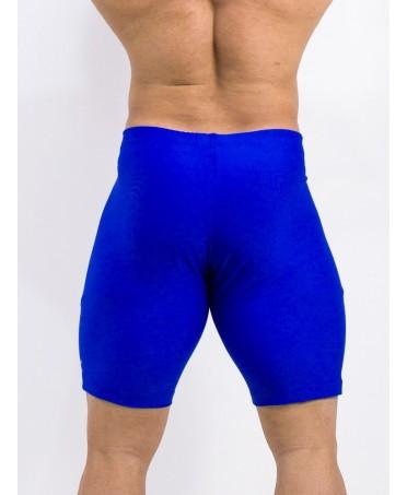 solid royal blue leggings man fitness wear man, men's slim trousers stretch short gym