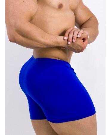 pantalone corto uomo blue, pantaloncino aderente elastico bluette uomo