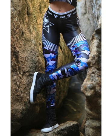 legging camo style, fitness wear online, tessuto traspirante