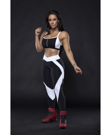 leggings workout black-and-white fabric storage