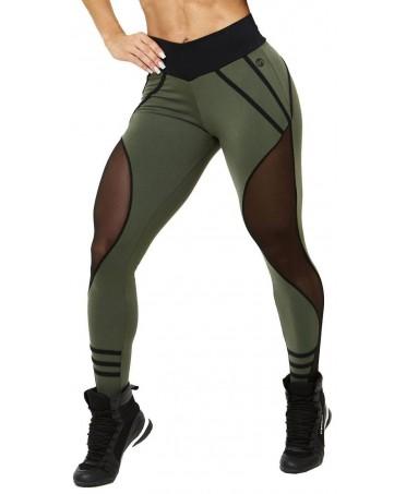 fuseaux verde miliatre canoan, moda brasiliana per abbigliamento sportivo, fitness wear,
