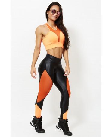 fuseaux anti cellulite, pantacalze con inserti colorati, abbigliamento uomo dona body building,